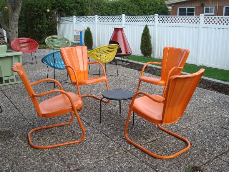 Lightweight Garden Furniture Repainted 50s garden furniture light weight practical and colorful repainted 50s garden furniture light weight practical and colorful whats not to workwithnaturefo