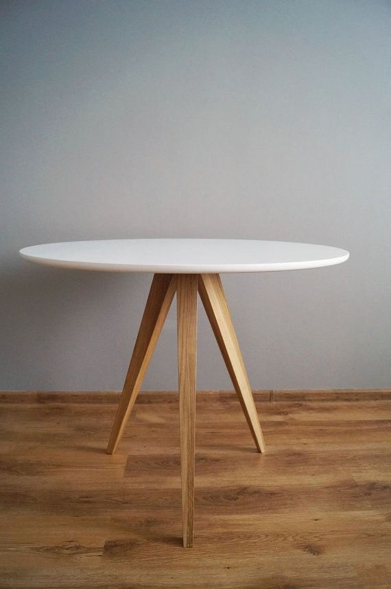 Table Oak And White Circle 3 Kitchen Table Round Table