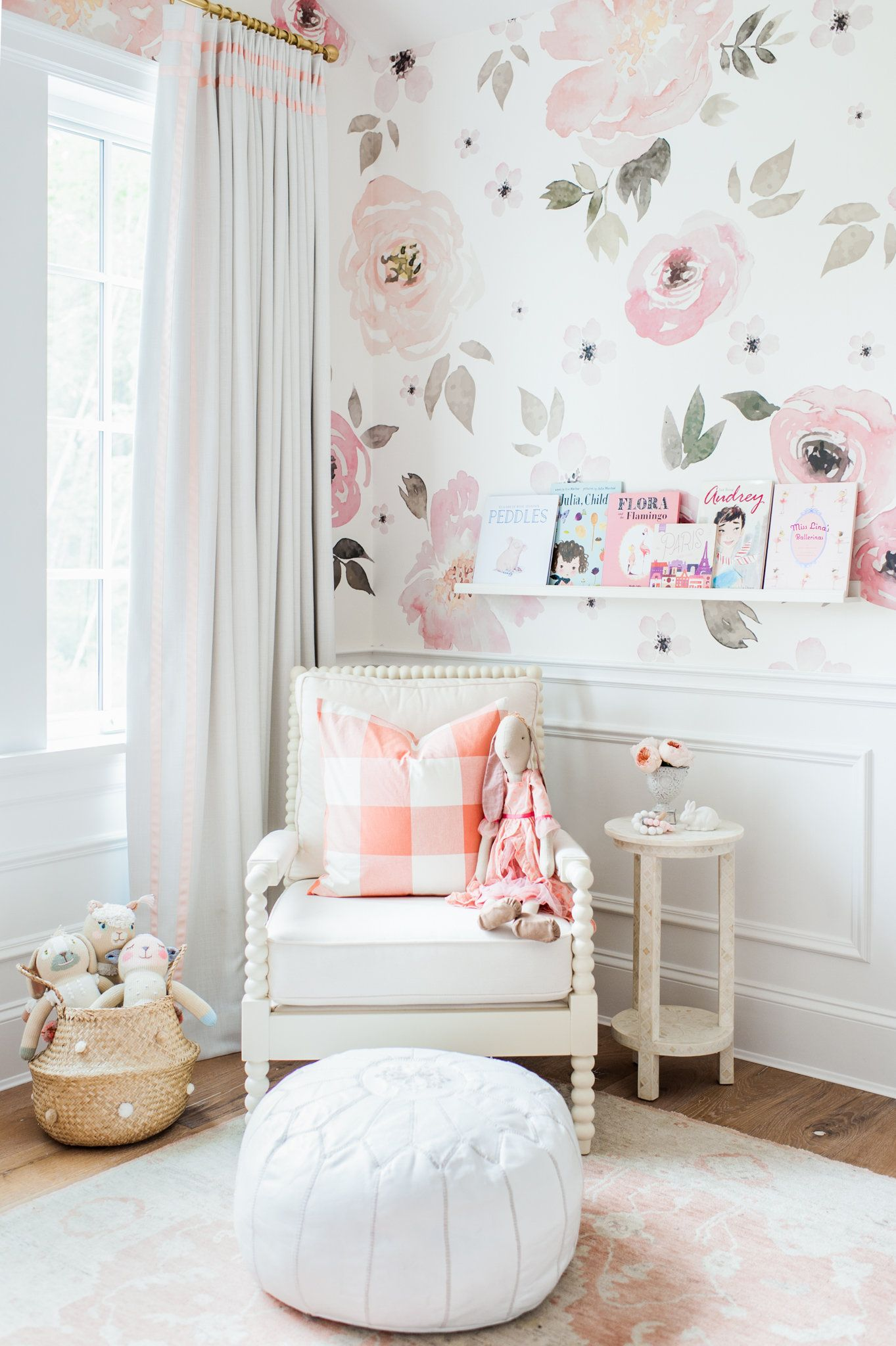 Girl Nursery reading nook | Lillya's Nursery | http://monikahibbs.com