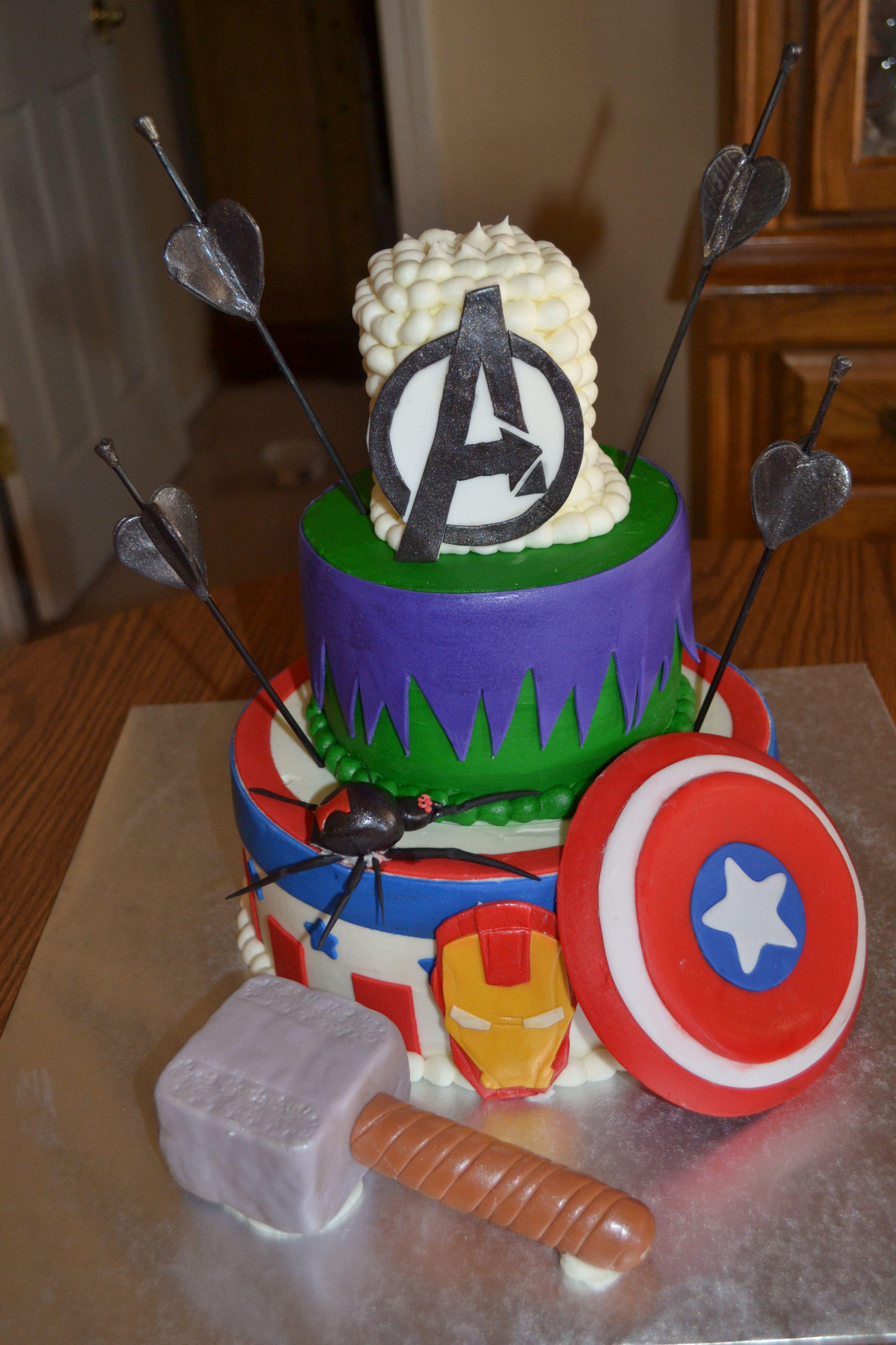 Avengers birthday cake avengers birthday cakes avengers