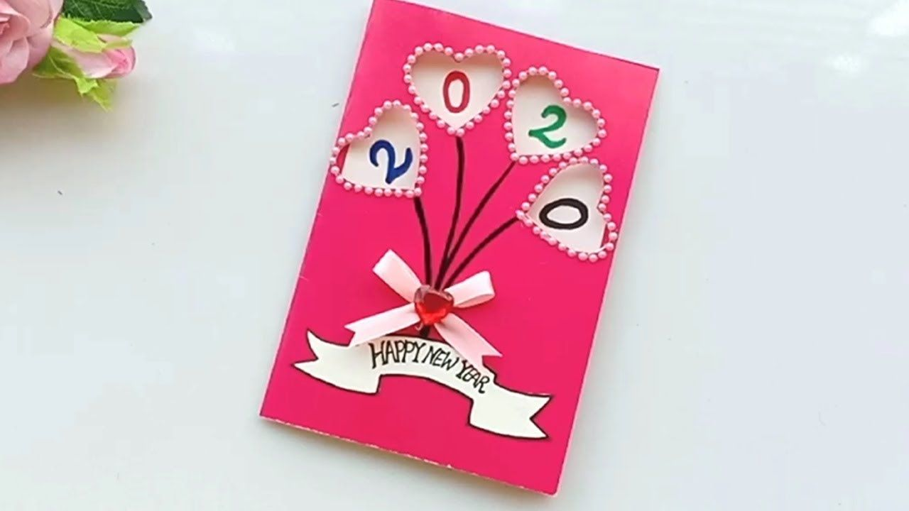 Beautiful Happy New Year Card Idea | New year cards ...