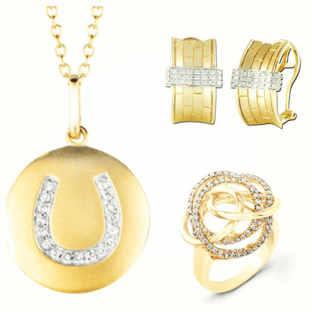 14k Yellow Gold Collection available @ www.JewelsObsession.com