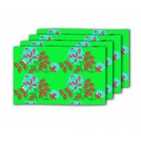 Designer Table Mats Online In India Latest Such As Rust 4pc Green Flower