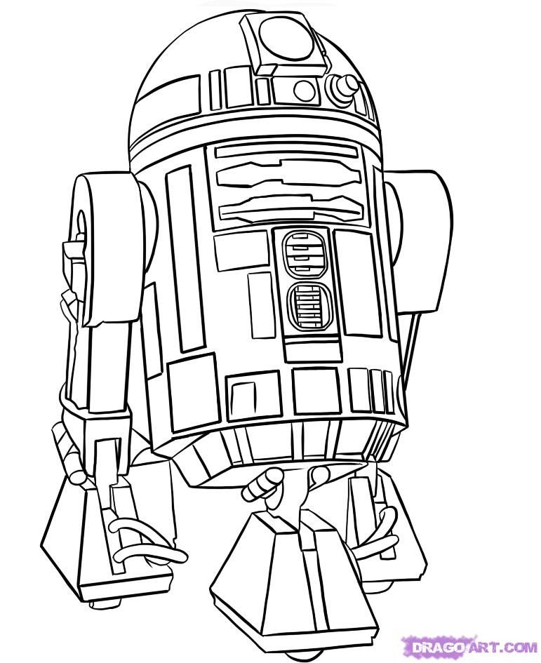 how to draw r2 d2 step by step star wars characters draw star star wars star wars. Black Bedroom Furniture Sets. Home Design Ideas