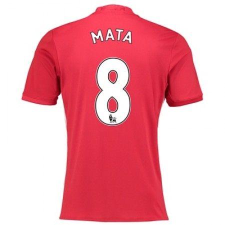 Manchester United 16-17 Juan Mata 8 Hjemmedraktsett Kortermet   #billige  #fotballdrakter