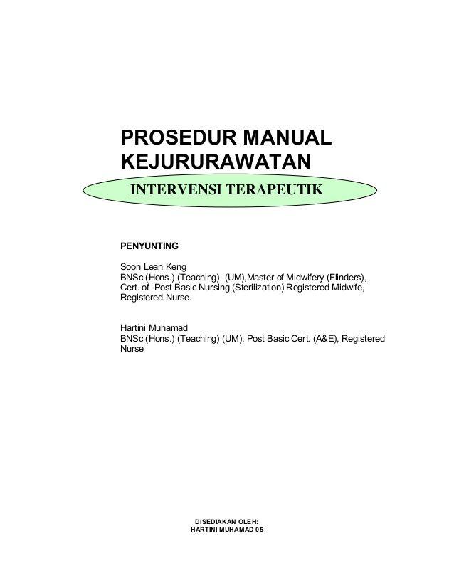 prosedur manual kejururawatan intervensi terapeutik penyunting soon rh pinterest ca manual prosedur kerja kejururawatan Gambar Prosedur