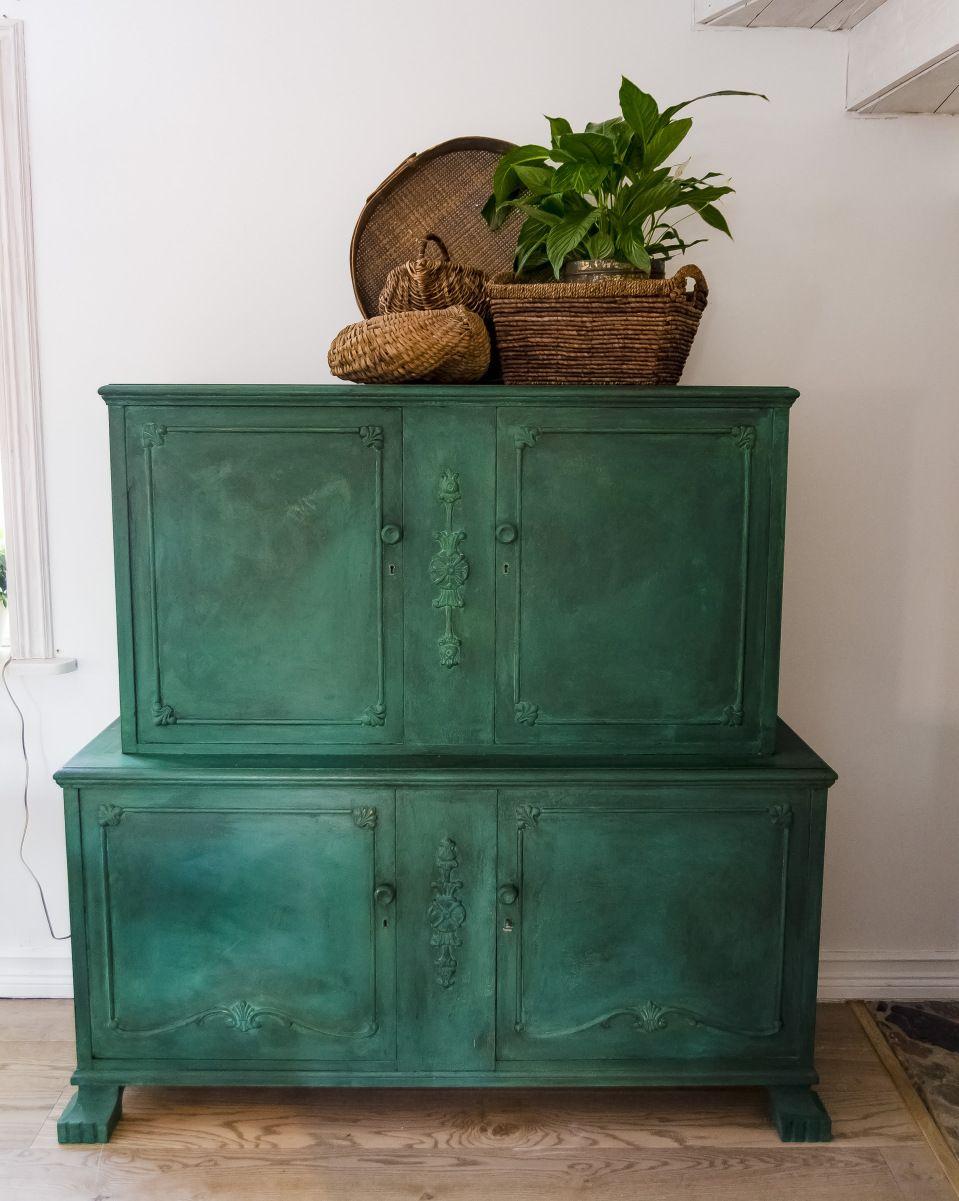 DIY, Turquoise dark wax cabinet - Bruket´s kreativa | Dark ...