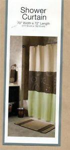 Green And Brown Shower Curtain | Shower Curtain Glitter Brown Beige Green Chapel  Hill | EBay
