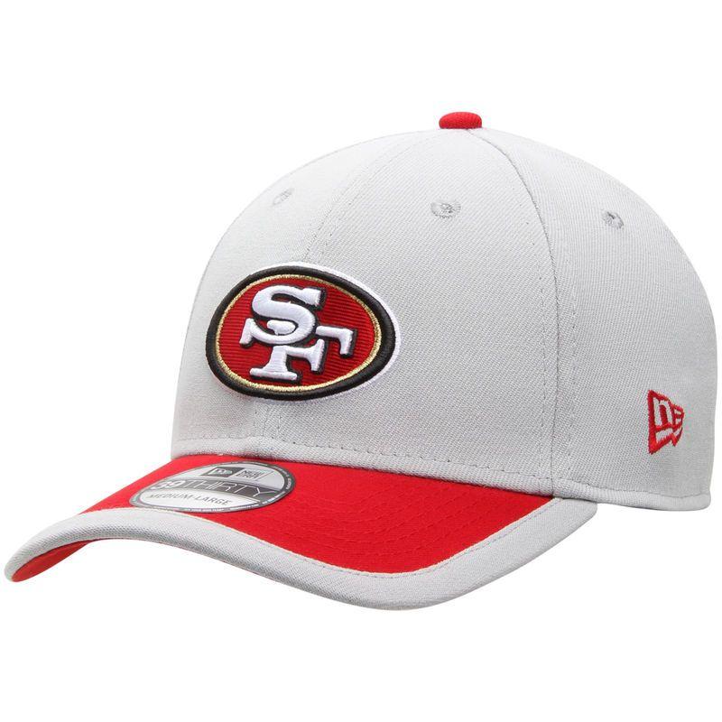 a7fc3d4fb31 San Francisco 49ers New Era NFL Gray Sideline 39THIRTY Flex Hat - Gray