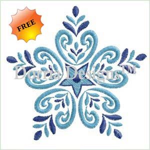 Free snowflake embroidery design 365 Tons of free designs