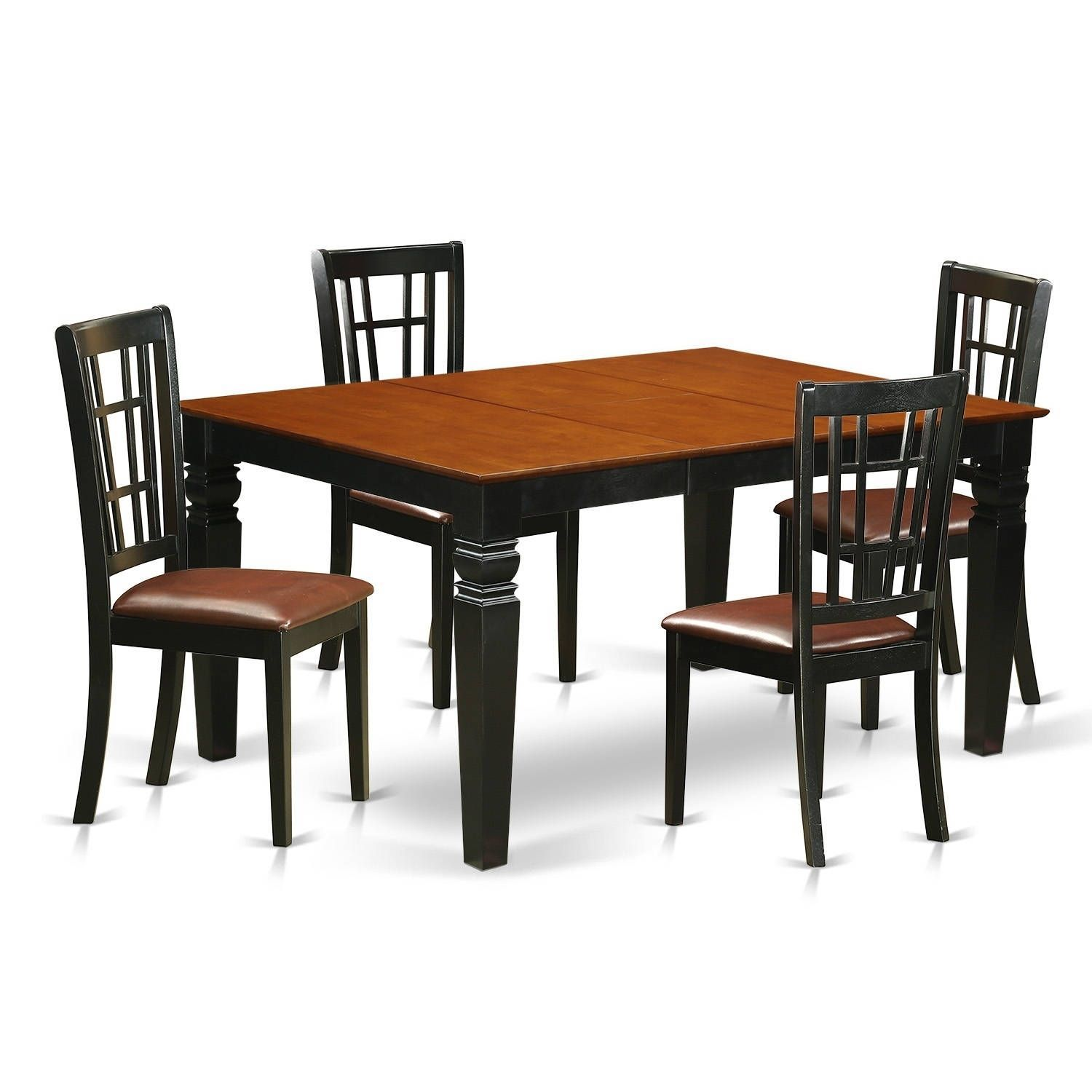 WENI5-BCH 5 Pc Dinette set with a Dining Table and 4 Kitchen Chairs ...