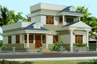 Traditional Flat Roof Homes | ... Beautiful Flat Roof Home Design Kerala Home  Design
