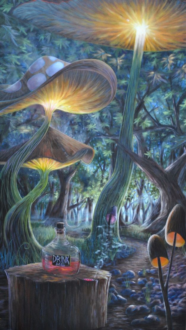 Art trippy drugs lsd halloween shrooms acid psychedelic - Trippy nature wallpaper ...