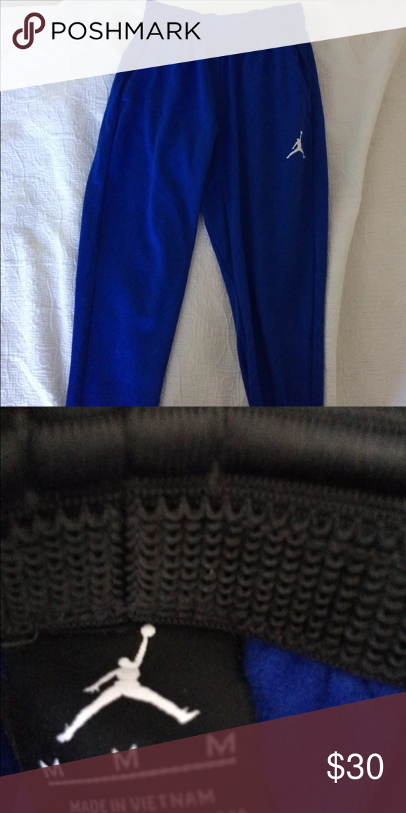 Men's Royal Blue Jordan Joggers Men's