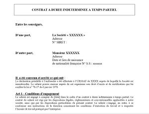 Modele De Contrat De Travail A Duree Indeterminee Cdi Modele De Contrat Modele Contrat De Travail Le Contrat De Travail