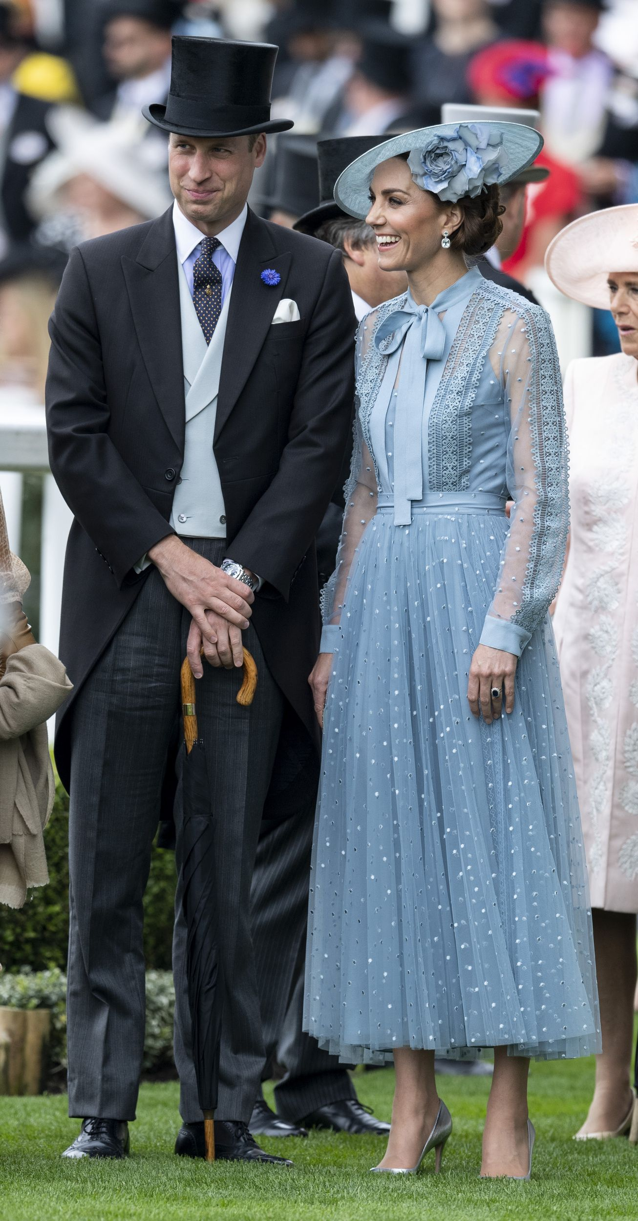Kate Middleton Dazzles In Blue Elie Saab At The Royal Ascot