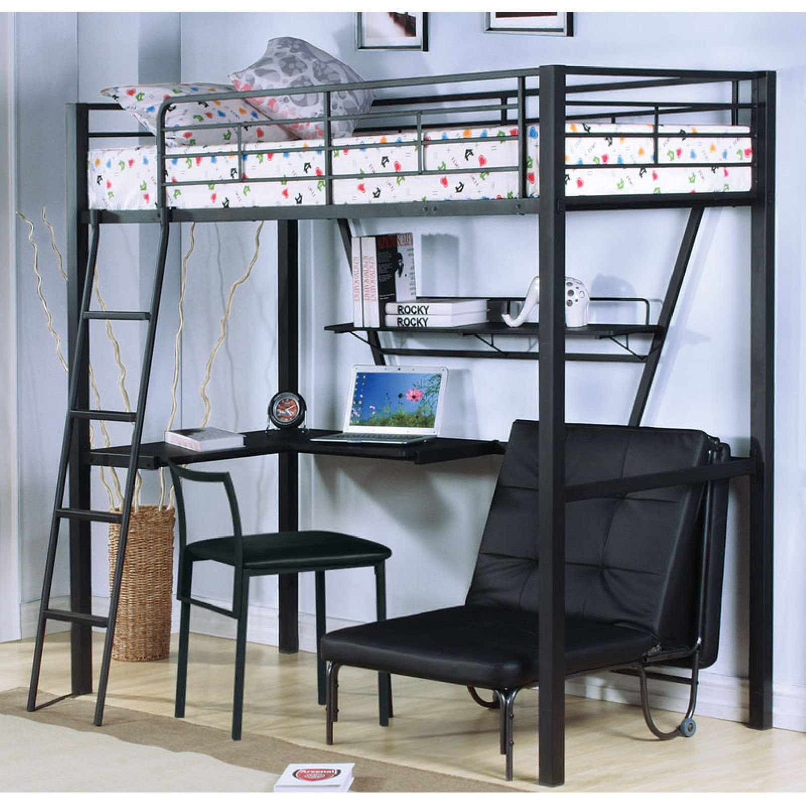Groovy Acme Furniture Senon Twin Loft Bed With Desk In 2019 Loft Bralicious Painted Fabric Chair Ideas Braliciousco