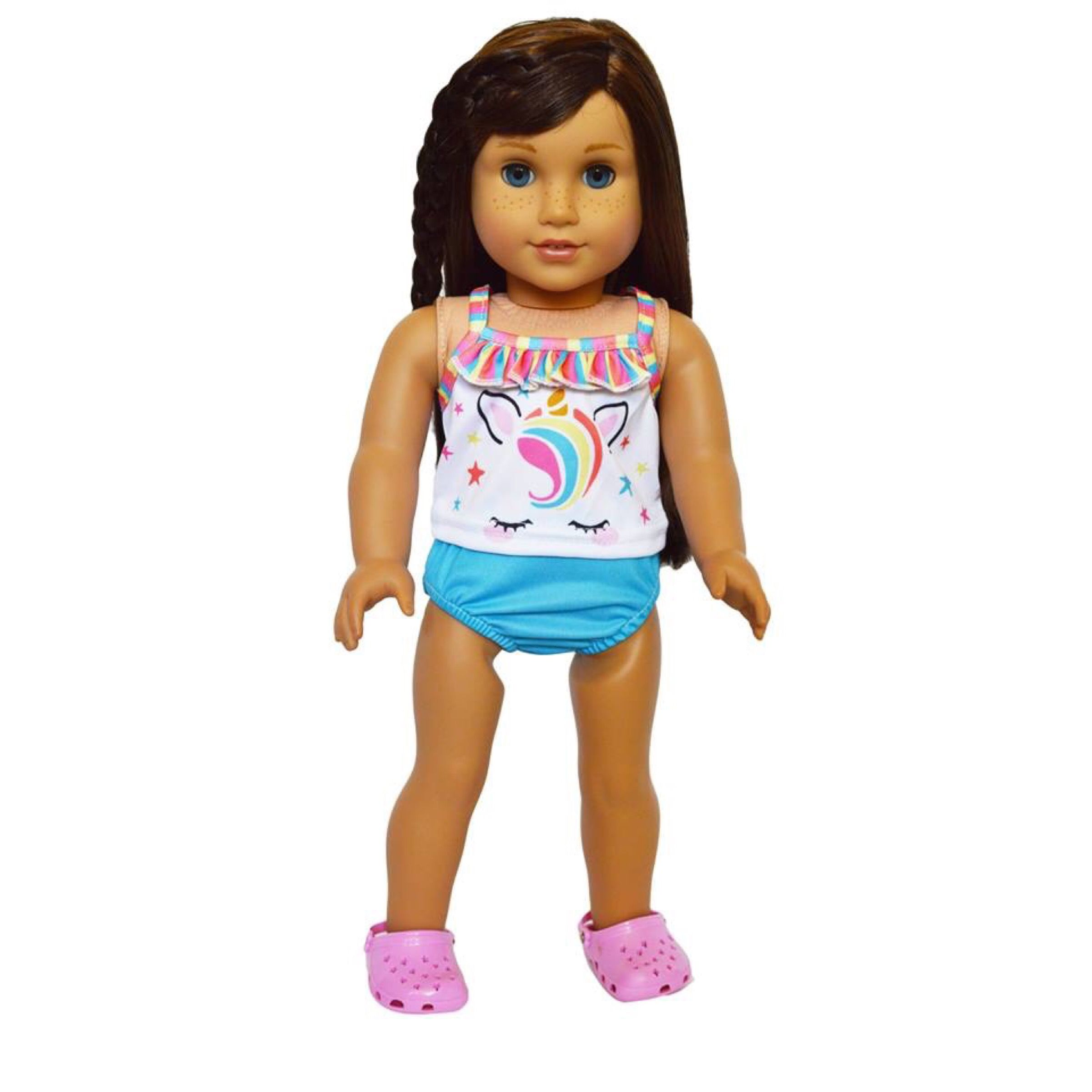 """18/"""" Doll Clothes Candy Swimsuit Bathing Suit fits 18/"""" Dolls Swimwear"""