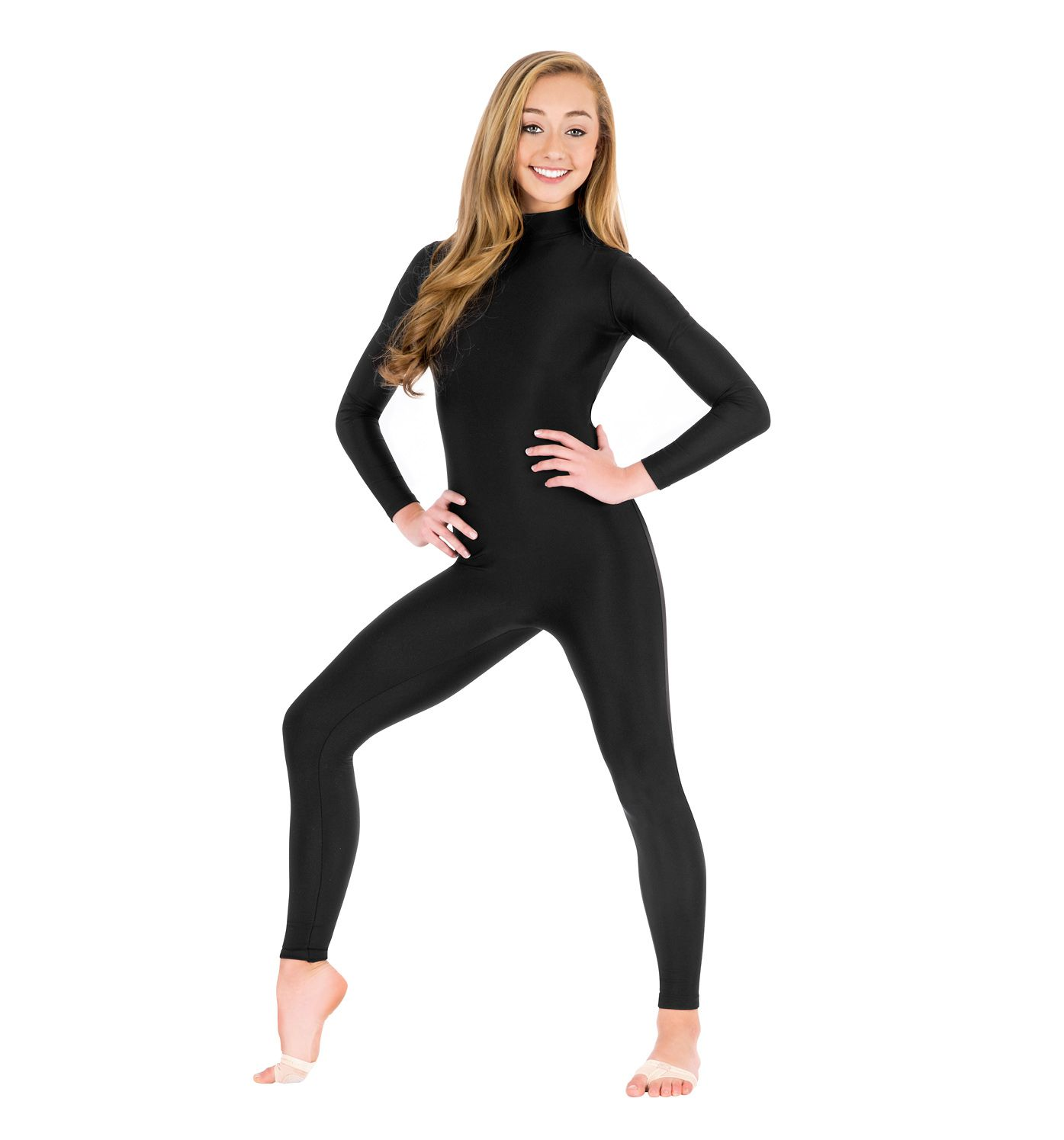 Girls Full Body Unitard Long Sleeve Gymnastics Leotard Jumpsuit Ballet Dancewear