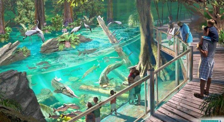 al aire libre exhibición río Mississippi-acuario (1 ...