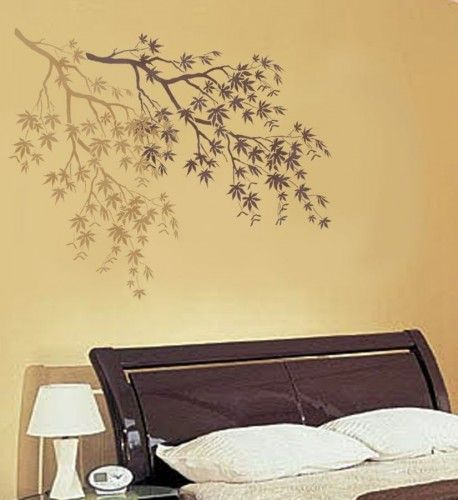 Reusable Wall Stencil Japanese Maple Branch - Great for Wall Decor ...