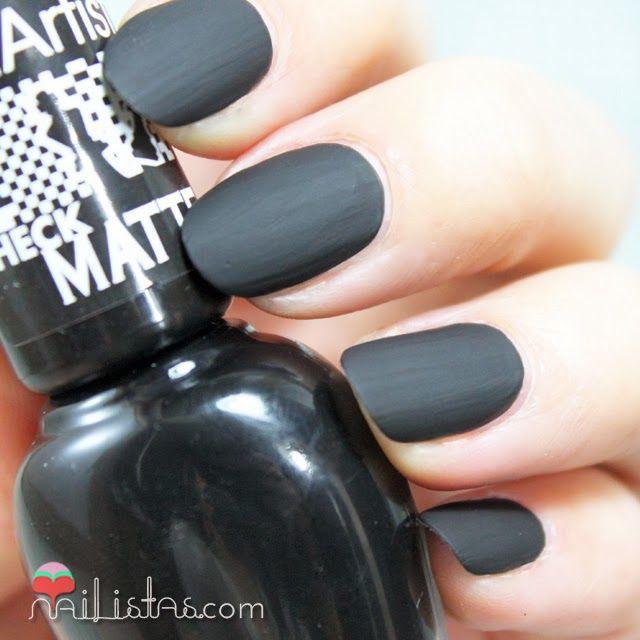 Perfecto Mate Esmalte De Uñas Negro Imagen - Ideas de Diseño de Arte ...