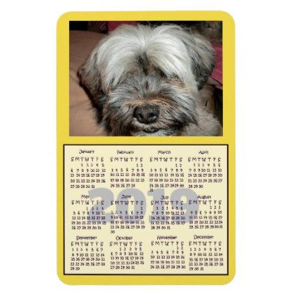 Customize your color and Photo Mini 2019 Calendar Magnet products