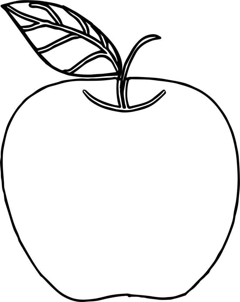 Apple Coloring Page Back To School Fruit Coloring Pages Apple Coloring Pages Apple Coloring