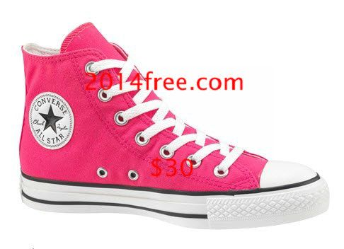 Hot Pink converse High Shoes, Pink