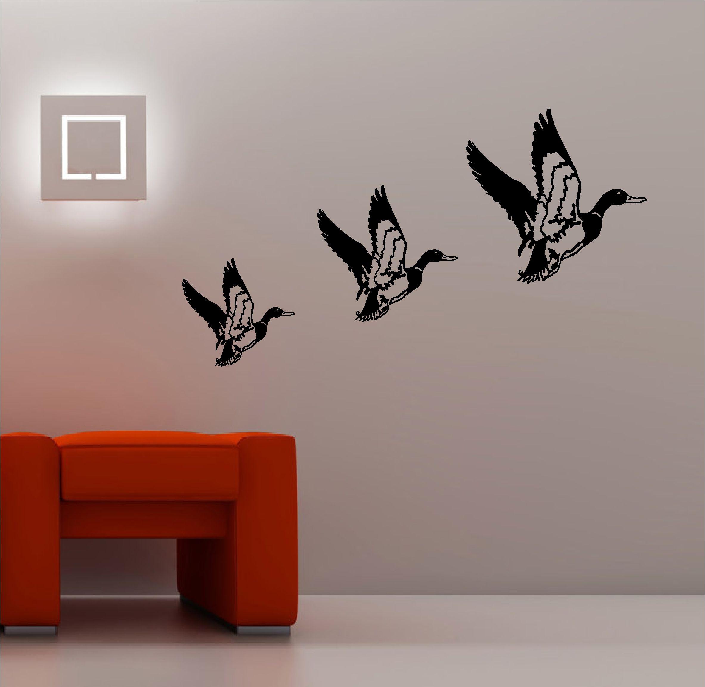retro flying ducks wall art sticker vinyl lounge kitchen ebay ...