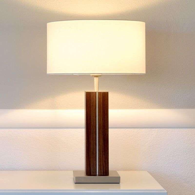 Dana Hoogwaardige Tafellamp Massief Houten Voet Tafellamp Buffetlamp Massief Hout