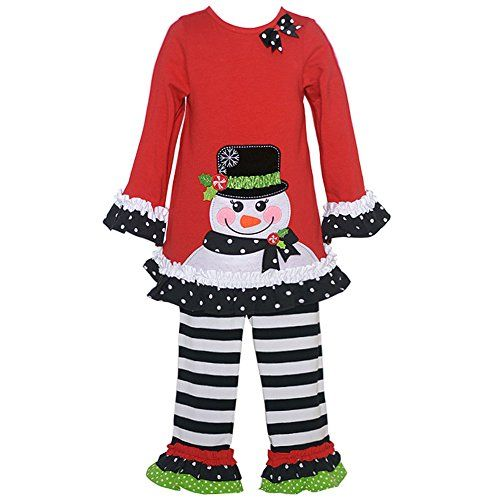 christmas outfits toddler girl rare editions rare editions ruffled snowman applique top w leggings