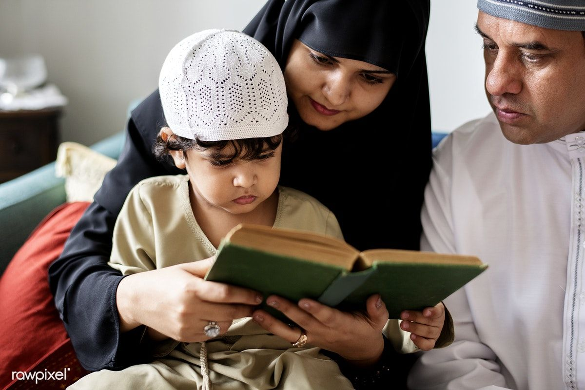 Download premium photo of Muslims reading from the quran 425777 ...