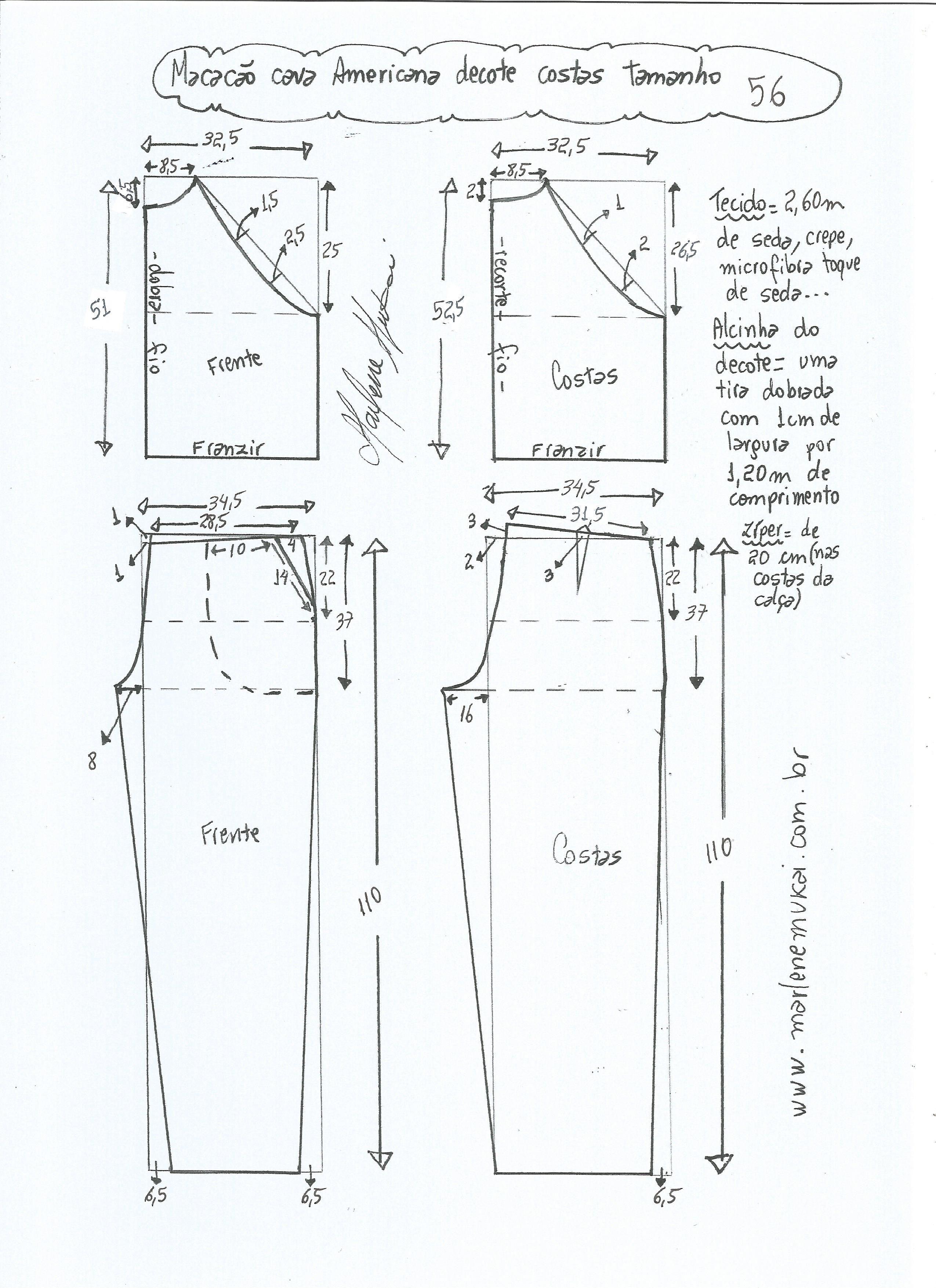 Patrón de mono con sisa americana | moldes | Pinterest | Sewing ...