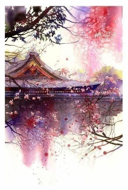 Chinese Watercolor Art Dessin Peinture Japonaise Et Peinture