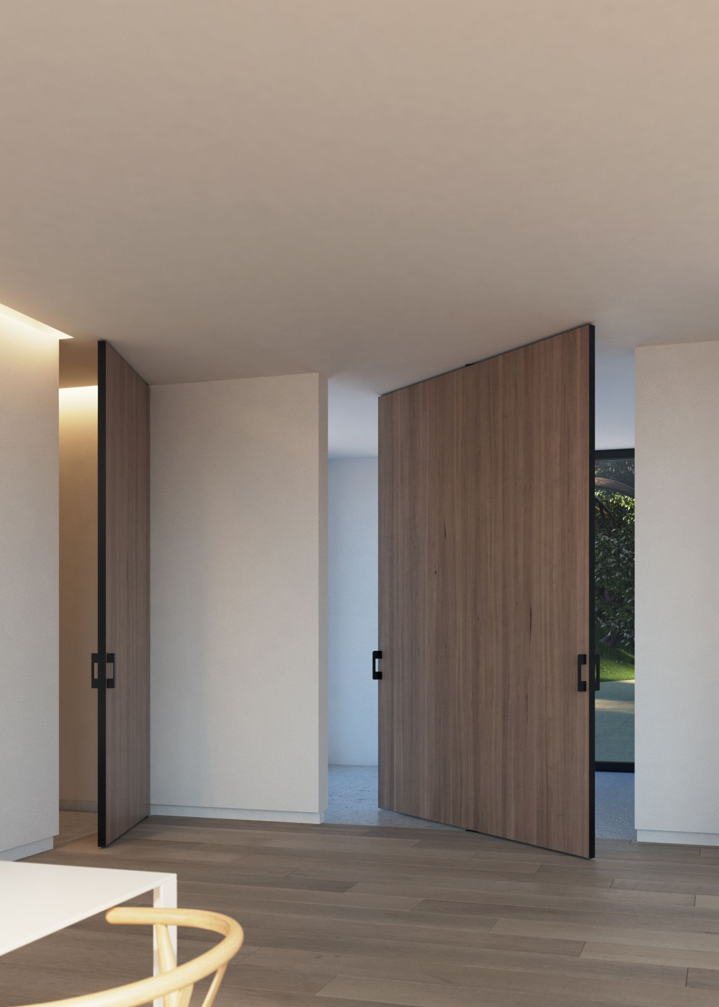 Large Pivot Doors With Either Central Of Offset Axis Pivoting Hinges Diy Kit Custom Made By Portapivot For Co Pivot Doors Wood Doors Interior Doors Interior