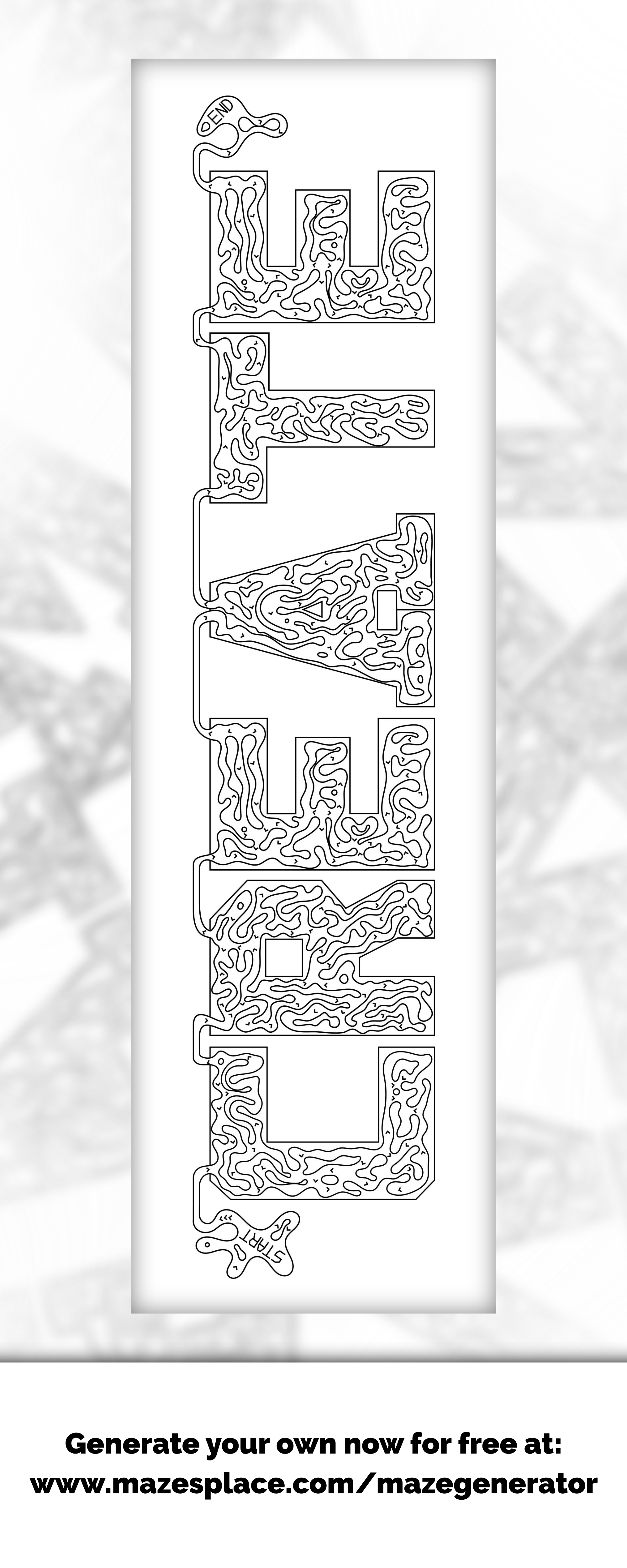 CREATE maze!!! Create your own for free! Any word you like