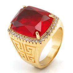 14K Gold Ruby Crown Julz Ring