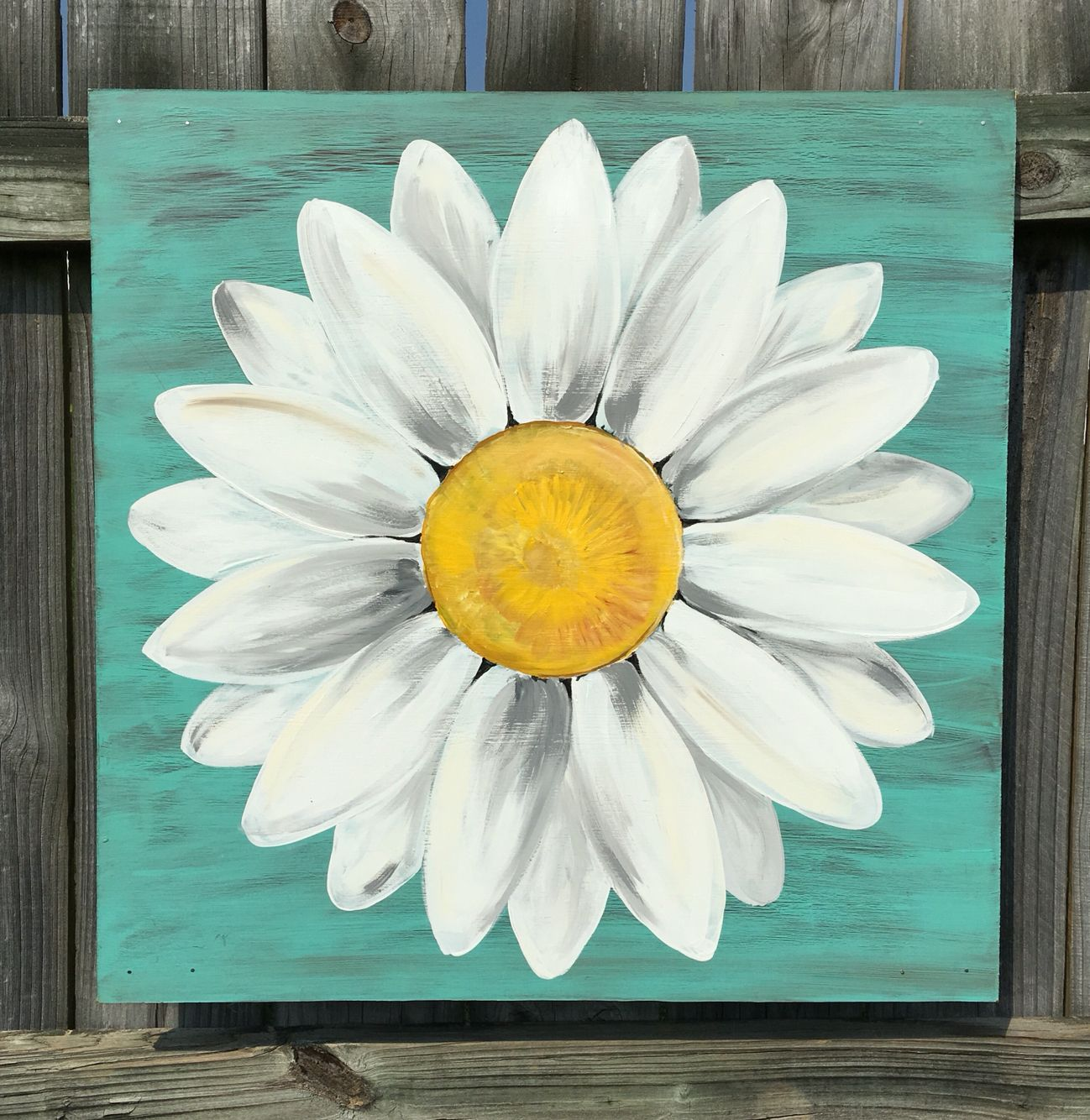 Smile Sunflower Painting Simple Canvas Paintings Mini Canvas Art Small Canvas Art Cute766