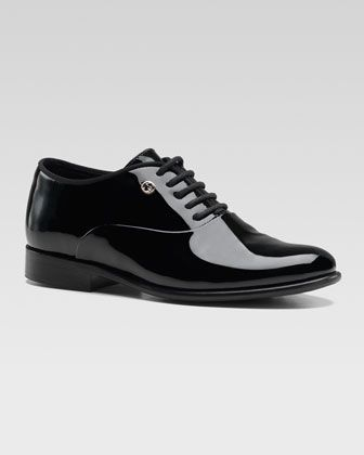 33e64eaa7 Heep Patent Tuxedo Shoe by Gucci at Neiman Marcus.
