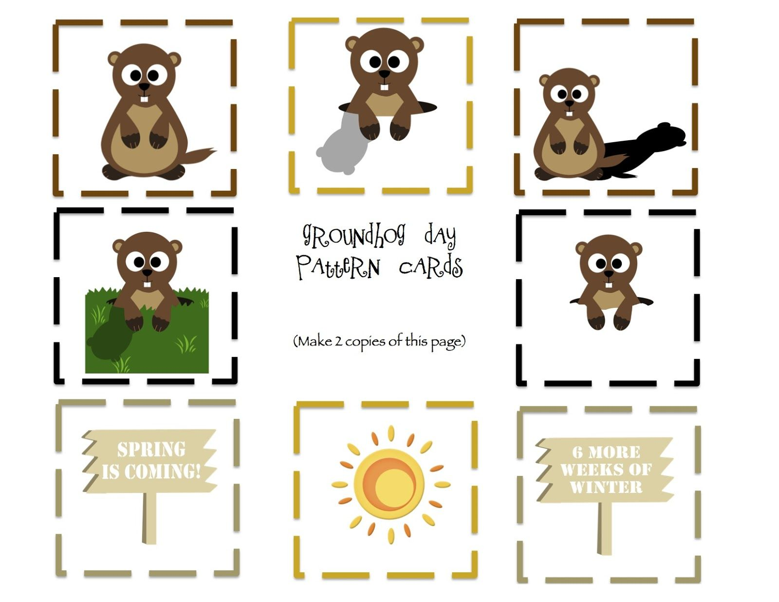 Free Preschool Printables Groundhog Day Theme