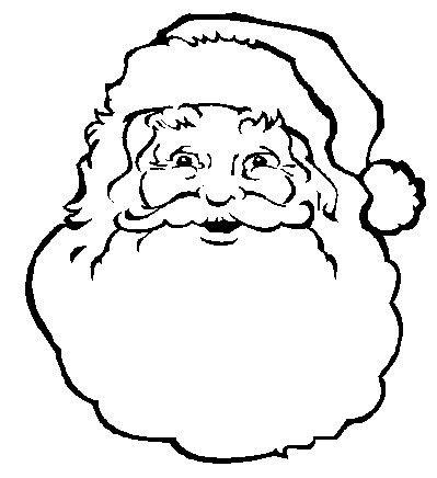 Santa Claus Face Printable | Santa Face Coloring Page ...