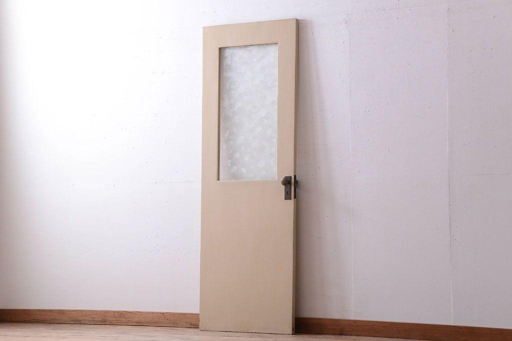 昭和レトロ このはガラス入り ビンテージペイントドア 扉 2 アンティーク家具ネットショップ ラフジュ工房 ドア 昭和レトロ ガラス