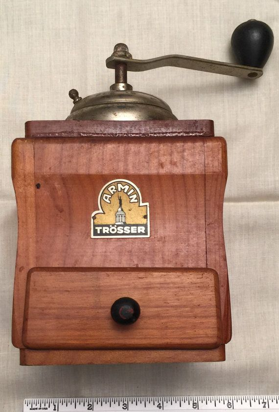 hand-operated wooden Hand mill in rustic brown Wood Coffee Grinder