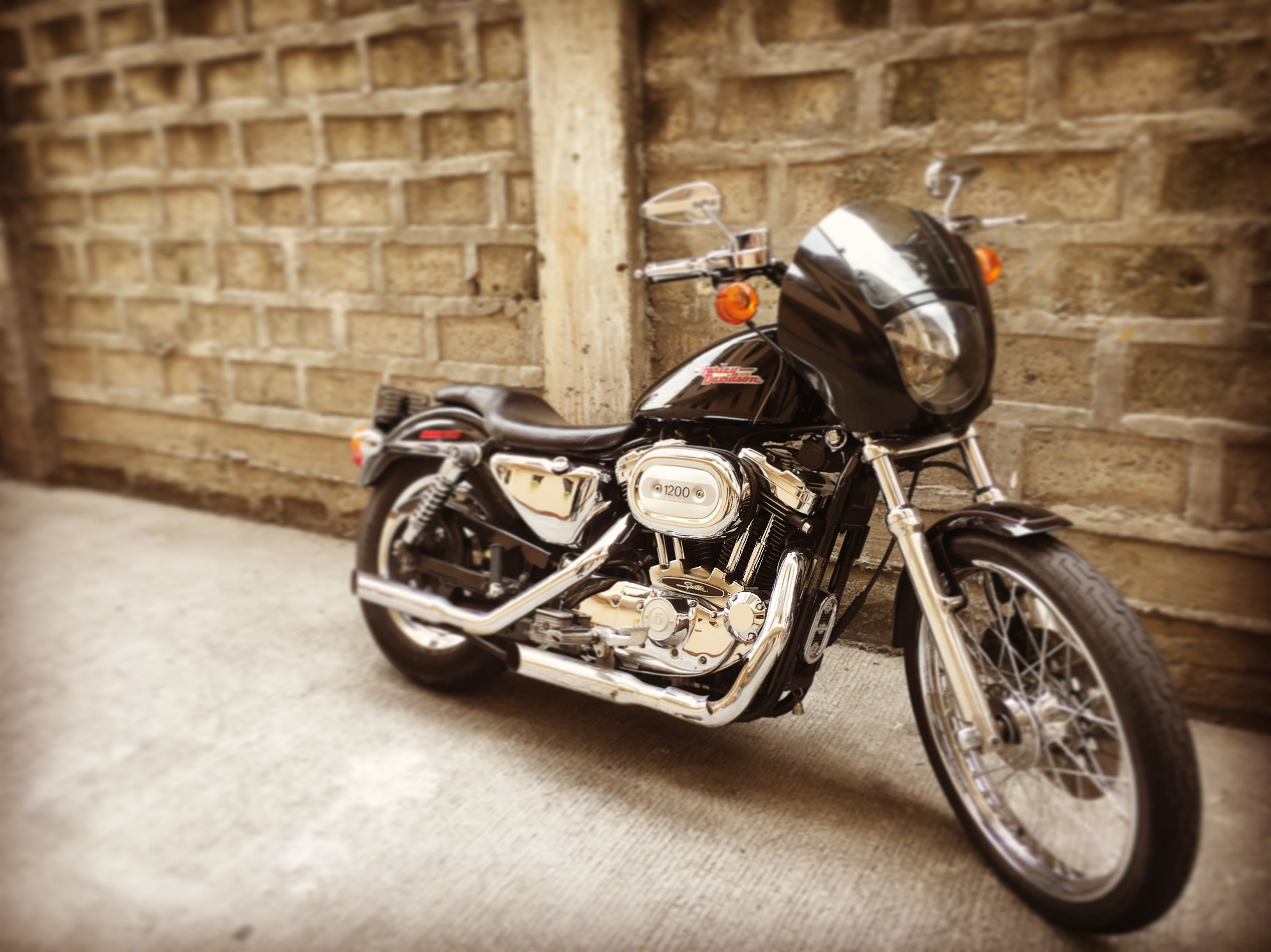 The 1997 XLH1200c Sportster 1200 Custom with mids on and the quarter  fairing. #harleydavidson #harley #bratsportster #hd #sportster #custom  #xlh1200c ...