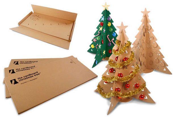 árbol de navidad de carton