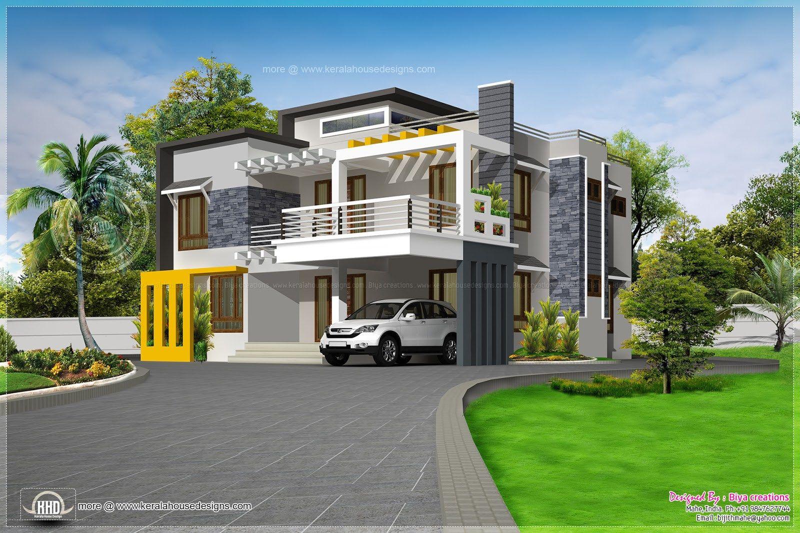 Contemporary Luxury House Kerala Home Design Floor Plans Design Studio Designer Sudheesh Ellath Vatakara Kozhikode Kerala