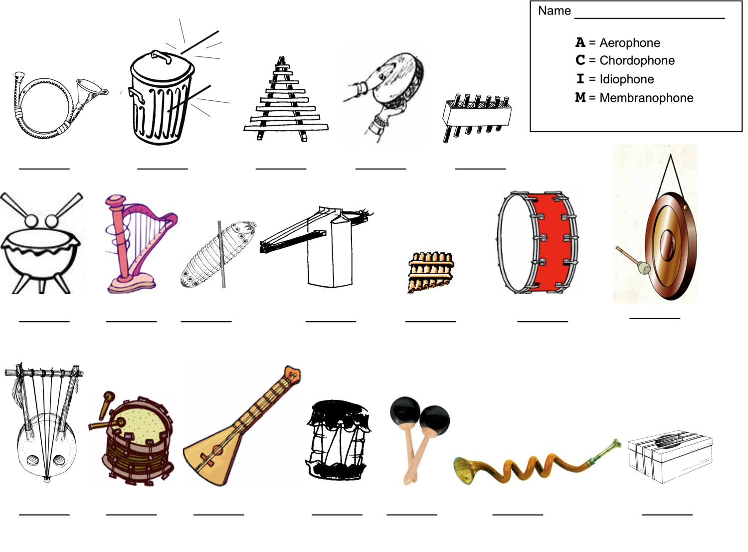 Orchestra Instrument Worksheet   Printable Worksheets and Activities for  Teachers [ 1107 x 1500 Pixel ]