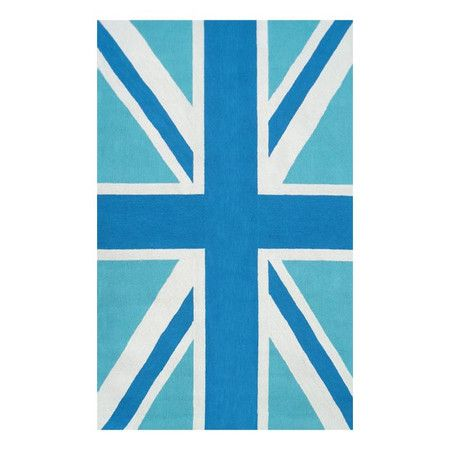 "I pinned this Union Jack Indoor/Outdoor 5' x 7'6"" Rug in Blue from the Indoor/Outdoor Rugs Under $200 event at Joss and Main!"
