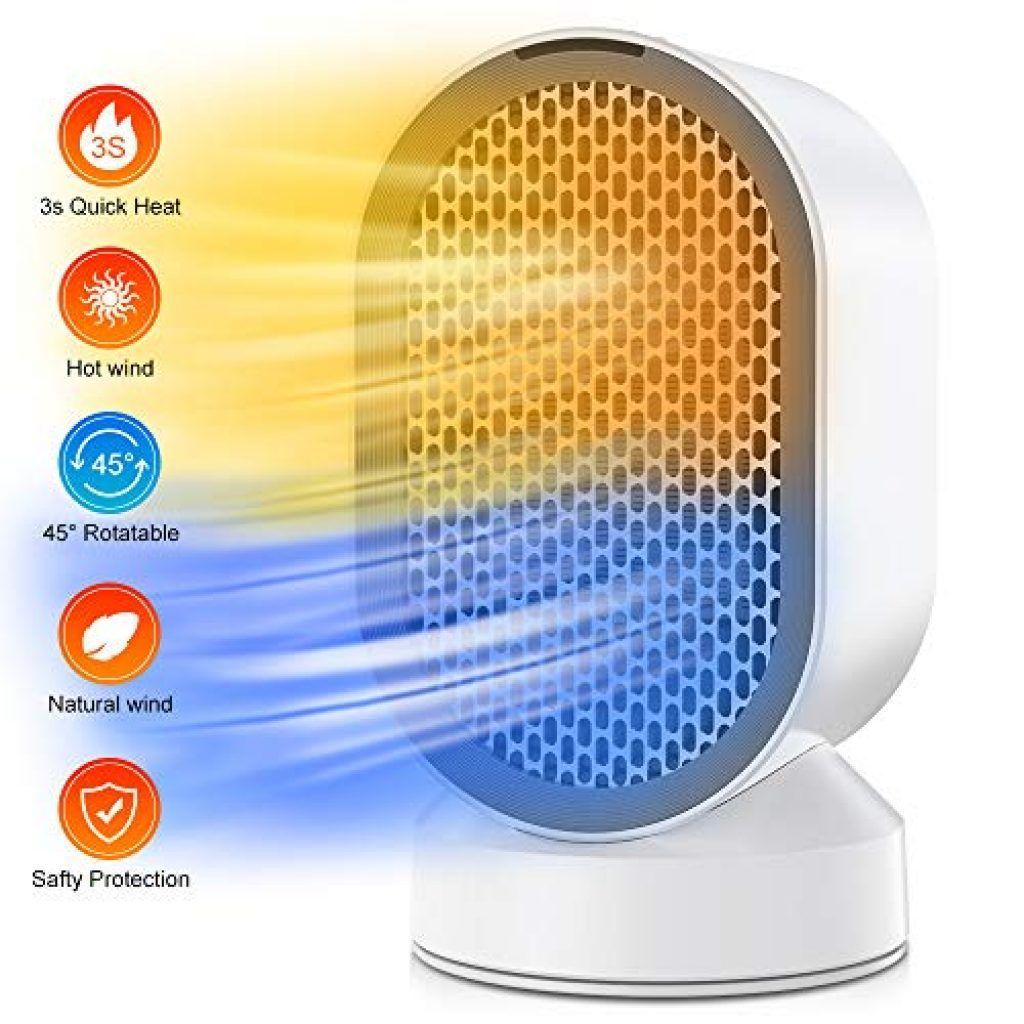 Chauffage Ceramique 360 Surround Avec Telecommande Et Thermostat Chauffage Chauffage Ceramique